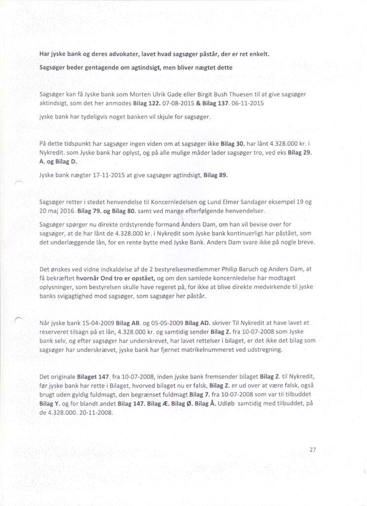 Main suspect in Danish bank fraud case Jyske BANK Anders Dam, Jyske Bank suspected of million scams and corruption. Philip Baruch Advokat og Partner I Lund Elmer Sandager Les.dk Thomas Schioldan Sørensen rodstenen.dk - Lundgrens advokater. Dan Terkildsen. Rødstenen advokater. bestyrelsen Jyske Bank Sven Buhrækall. Kurt Bligaard Pedersen. Rina Asmussen. Philip Baruch. Jens Borup. Keld Norup. Christina Lykke Munk. Johnny Christensen. Marianne Lillevang. Anders Christian Dam. Niels Erik Jakobsen. Per Skovhus. Peter Schleidt. #Bank #AnderChristianDam #Financial #News #Press #Share #Pol #Recommendation #Sale #Firesale #AndersDam #JyskeBank #ATP #PFA #MortenUlrikGade #GF Maresk #PhilipBaruch #LES #LundElmerSandager #Nykredit #MetteEgholmNielsen #Loan #Fraud #CasperDamOlsen #NicolaiHansen #JeanettKofoed-Hansen #AnetteKirkeby #SørenWoergaaed #BirgitBushThuesen #Gangcrimes #Crimes #Koncernledelse #jyskebank #Koncernbestyrelsen #SvenBuhrkall #KurtBligaardPedersen #RinaAsmussen #PhilipBaruch #JensABorup #KeldNorup #ChristinaLykkeMunk #HaggaiKunisch #MarianneLillevang Finansministeriet Statsministeriet Justitsministeriet Finanstilsynet Finans Bank Banking Aktier Loan Biler Hæderlige Banker #Koncerndirektionen #AndersDam #LeifFLarsen / Vedtægter § 1 Stk. 1: Bankens navn er Jyske Bank A/S. Stk. 4: Bankens formål er som bank og som moderselskab at drive bankvirksomhed efter lovgivningen Stk. 5: Banken drives i overensstemmelse med redelig forretningsskik, god bankpraksis og bankens værdier og holdninger :-) :-) Lidt søge ord. #Justitsministeriet #Finansministeriet #Statsministeriet JYSKE BANK BLEV OPDAGET / TAGET I AT LAVE #MANDATSVIG #BEDRAGERI #DOKUMENTFALSK #UDNYTTELSE #SVIG #FALSK / #Bank #AnderChristianDam #Financial #News #Press #Share #Pol #Recommendation #Sale #Firesale #AndersDam #JyskeBank #ATP #PFA #MortenUlrikGade #PhilipBaruch #LES #Boxen Jyske Bank Boxen #KristianAmbjørnBuus-Nielsen #LundElmerSandager #Nykredit #MetteEgholmNielsen #Loan #Fraud #CasperDamOlsen #Nicola
